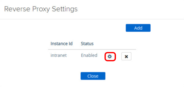 Adding Reverse Proxy Settings