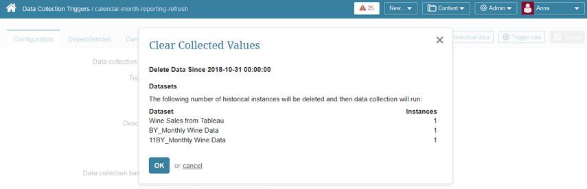 Review the data to be collected