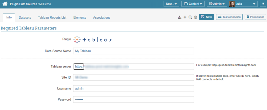 Define whether your Tableau server has secure connection
