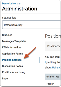 "Open the ""Position Settings"" tab"