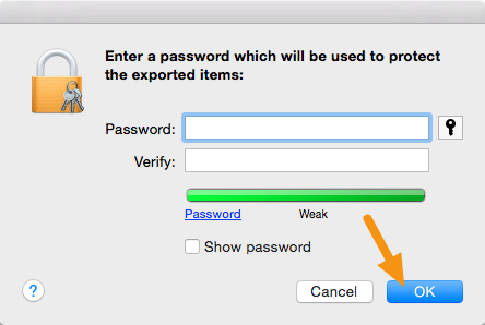 "When asked for a password, leave it blank and click on ""Ok."""