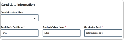 candidate name field