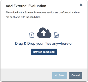 add external evaluation window