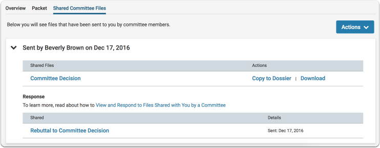 shared committee files tab