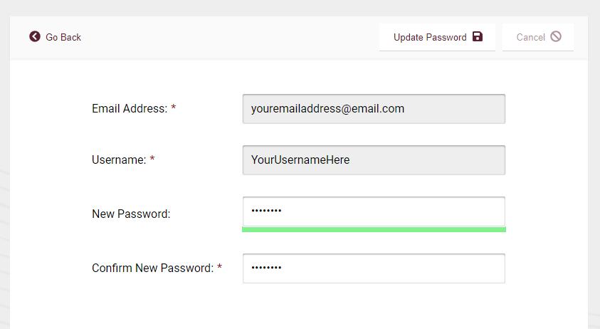 Step 4 - Complete the online user registration form