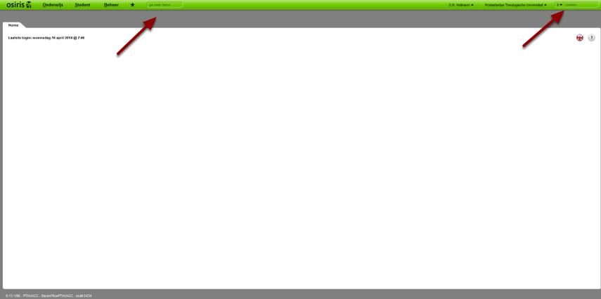 Ga naar: >Inlogscherm > inloggen > beginscherm Osiris.