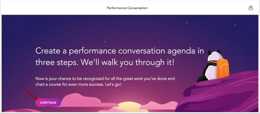 View Performance Conversation Wizard