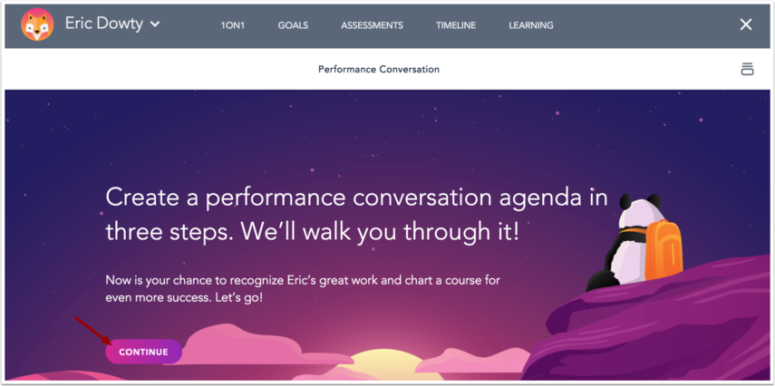 View Performance Conversation Wizard