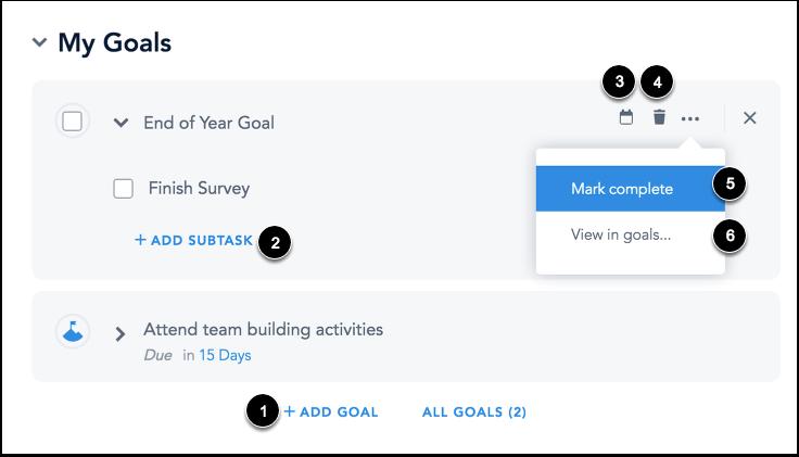 View Goals
