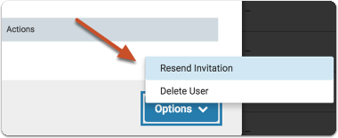 Select Resend Invitation