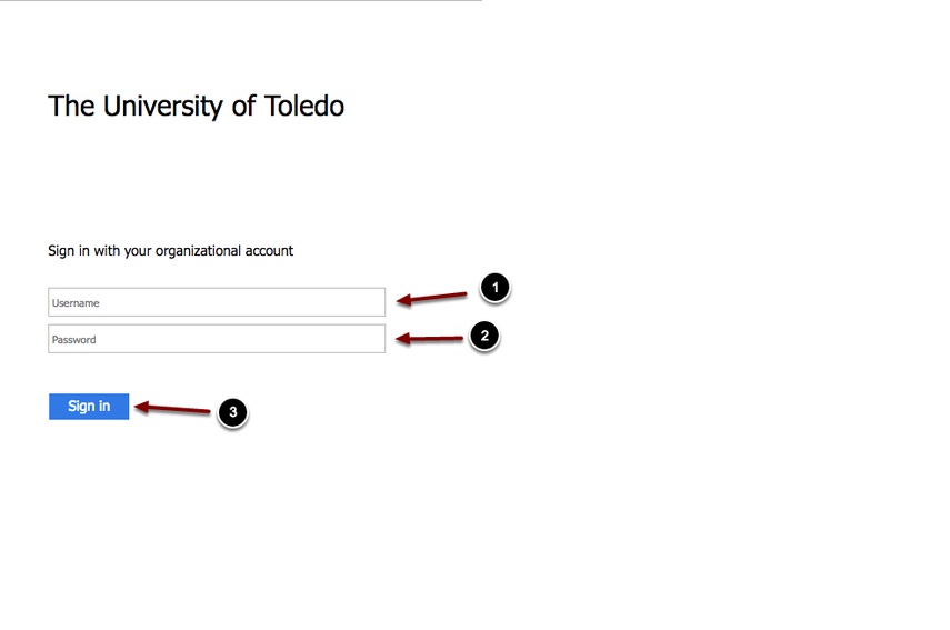 Image of the UTAD Account Management screen with the following annotations: 1.Enter your UTAD or Rocket Number in the space marked UT Identifier. 2.Enter your UTAD password or birthdate in the space marked Identifer Qualification3.When finished, click the Find Account button.