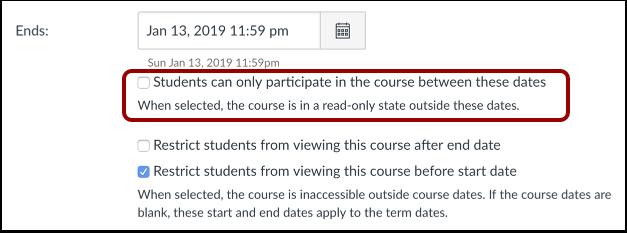 Limit Student Participaton