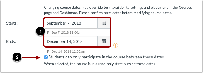 View Course Dates