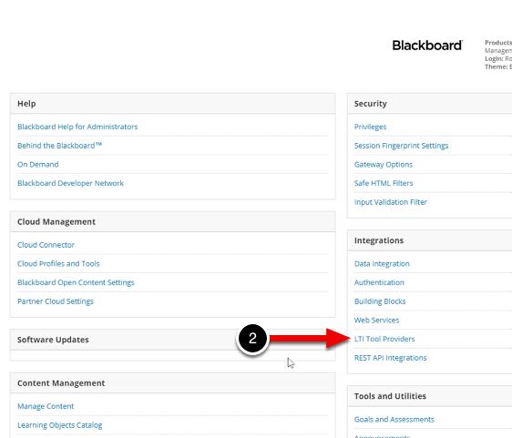 Step 3: Access LTI Tool Providers