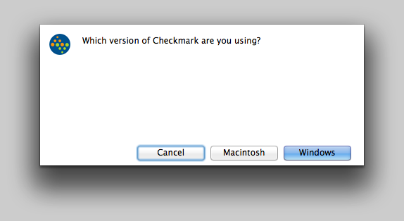 Which version of CheckMark are you using?