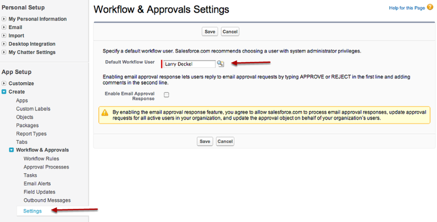 Default workflow User