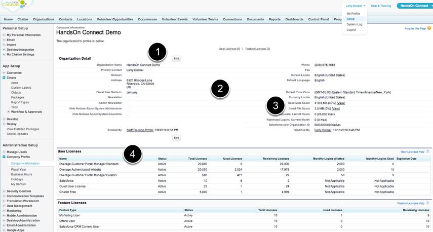 Go to Setup / Admin Setup / Company Profile / Company Information
