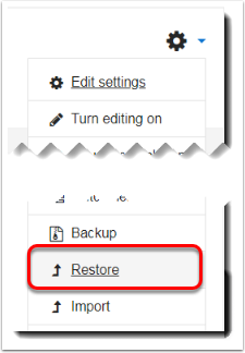 Restore is selected.
