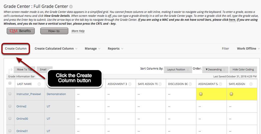Step 2 - Create Column