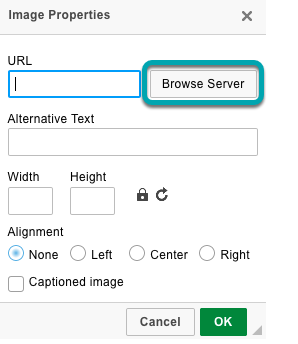 Select Browse Server.