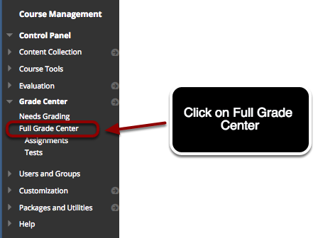 Accessing the Full Grade Center