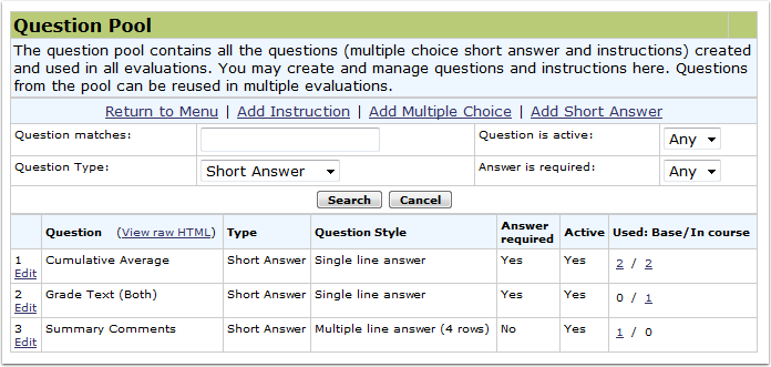 Search Short Answer