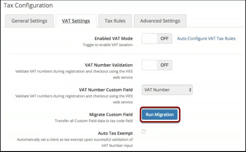 Run Migration button