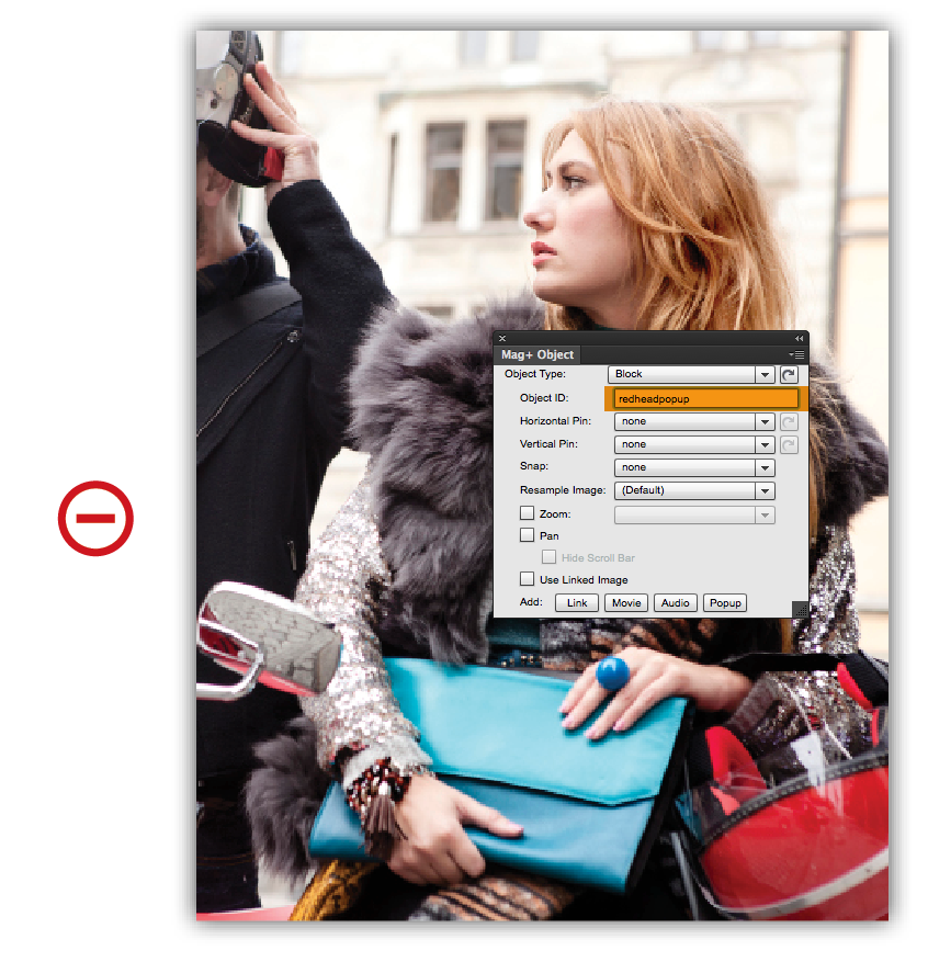 Select Popup content and change the Object ID to the Object ID you used in step 5 for the Popup URL (redheadpopup).
