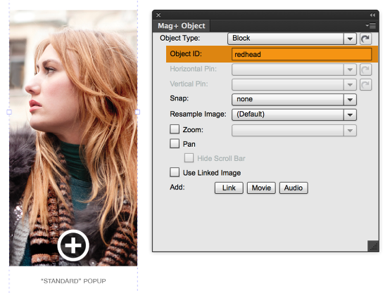 Enter a unique Object ID that will connect the grouped object to a Clickable Area.