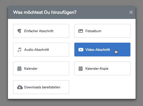 """Erstelle auf Deiner Webseite einen """"Video-Abschnitt"""""""
