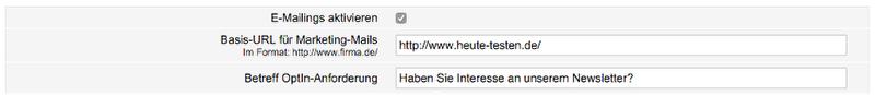 E-Mailings aktivieren