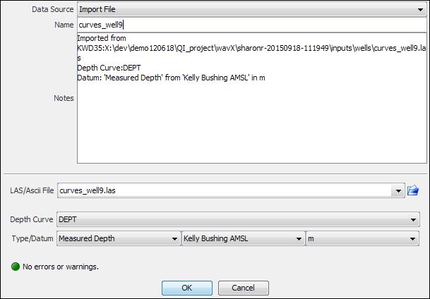 Import a LAS file