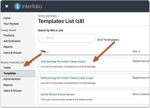 """Click """"Manage Templates"""" at the top right of the page"""