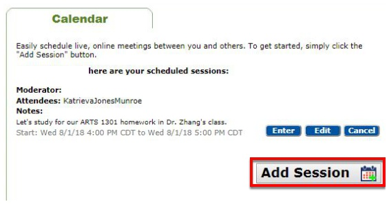 Add Session to Calendar