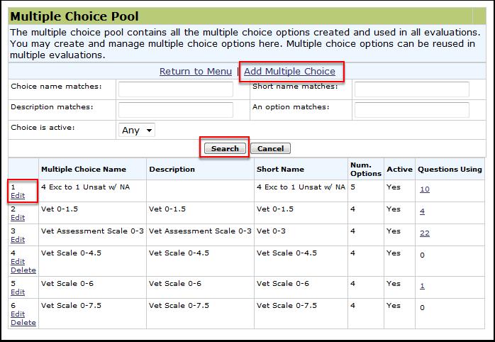 Multiple choice Pool