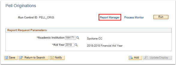 Report Manager link