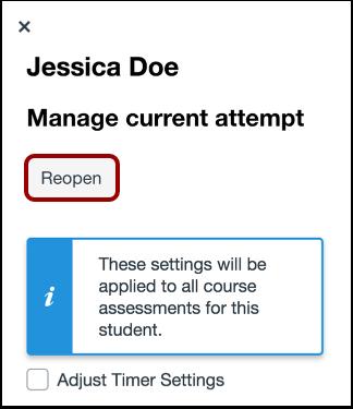 Reopen Assessment