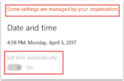 Windows 10 Restriction Setting in Action