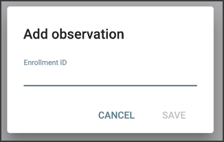 Add observation