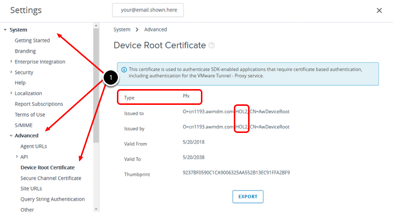 Device Root Certificate