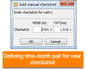 Add a checkshot