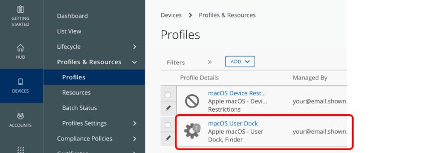 Verify the User Profile