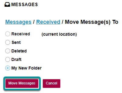 Select Move Messages.