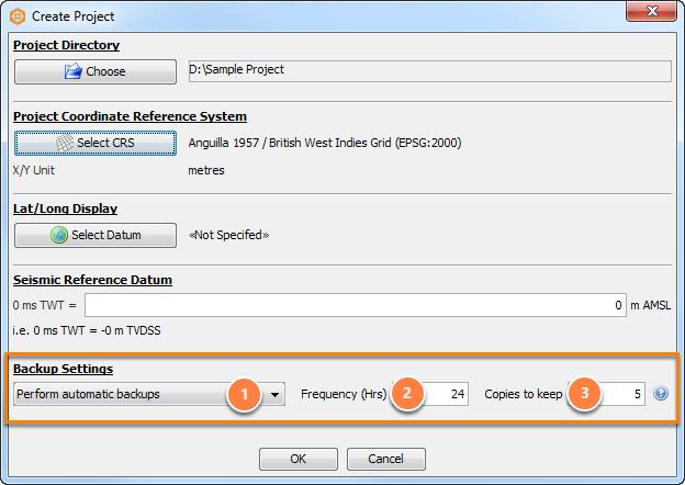 Configure backup settings