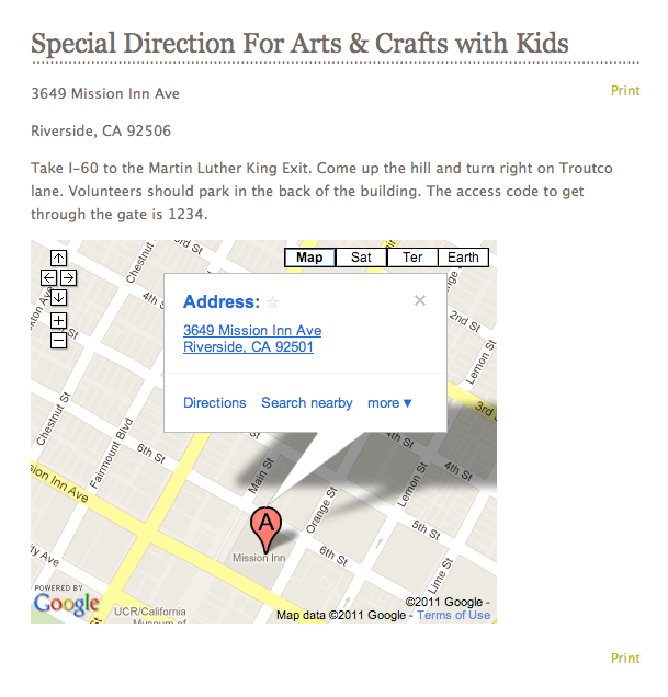 Location Details Page