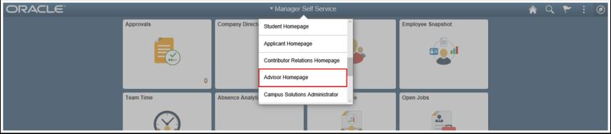 Advisor Homepage link