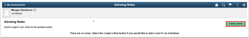Create a Note button