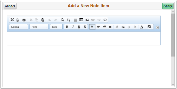 Add a New Note Item pagelet