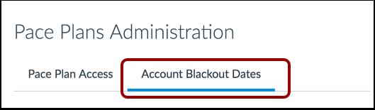 Open Account Blackout Dates