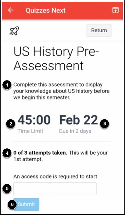 View Assessment Details